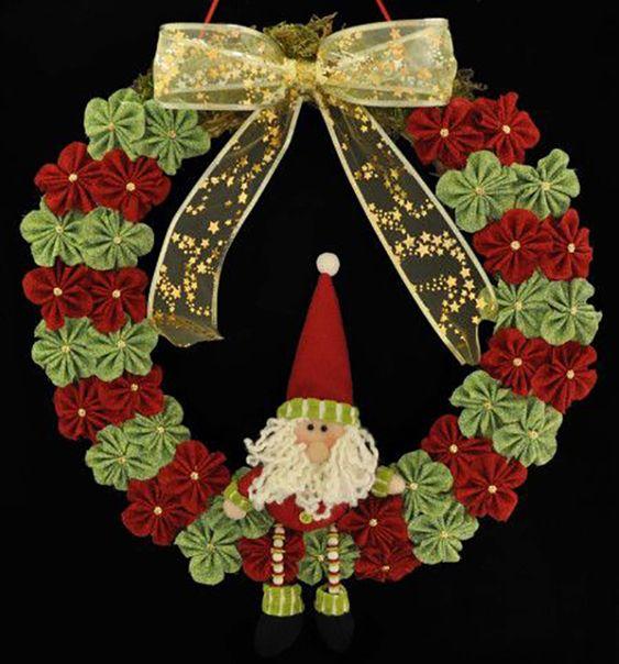 artesanato natal retalho guirlanda 2