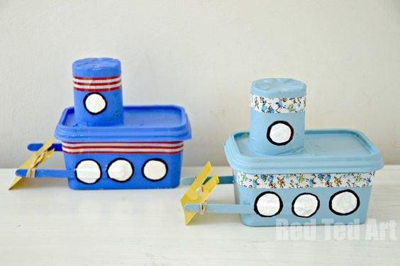 artesanato pote margarina brinquedos