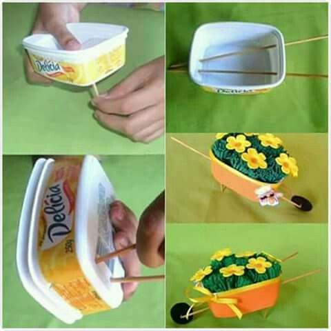 artesanato pote margarina decoracao 1
