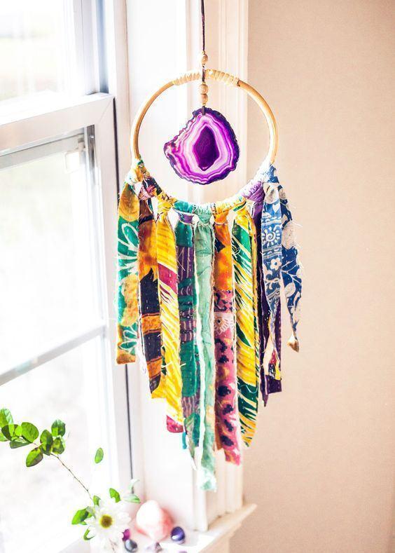 artesanato tecido decoracao filtro sonhos