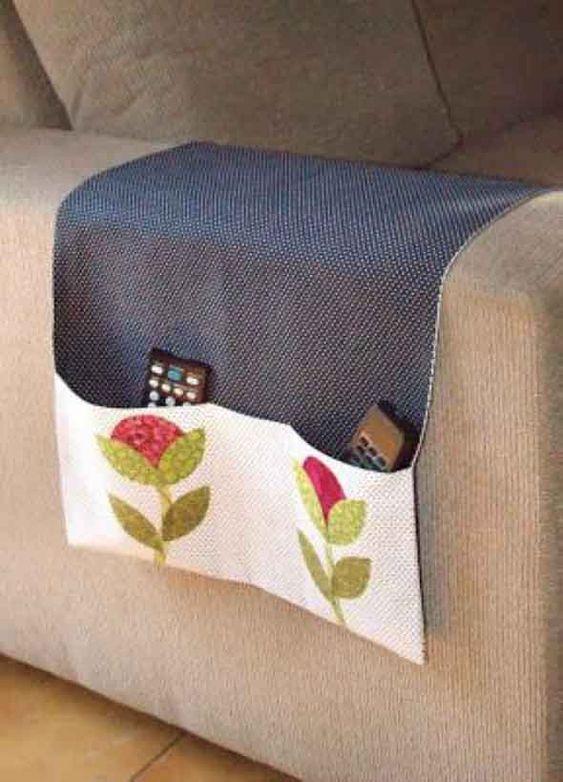 artesanato tecido decoracao porta comandos