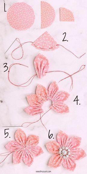 artesanato tecido diy flor