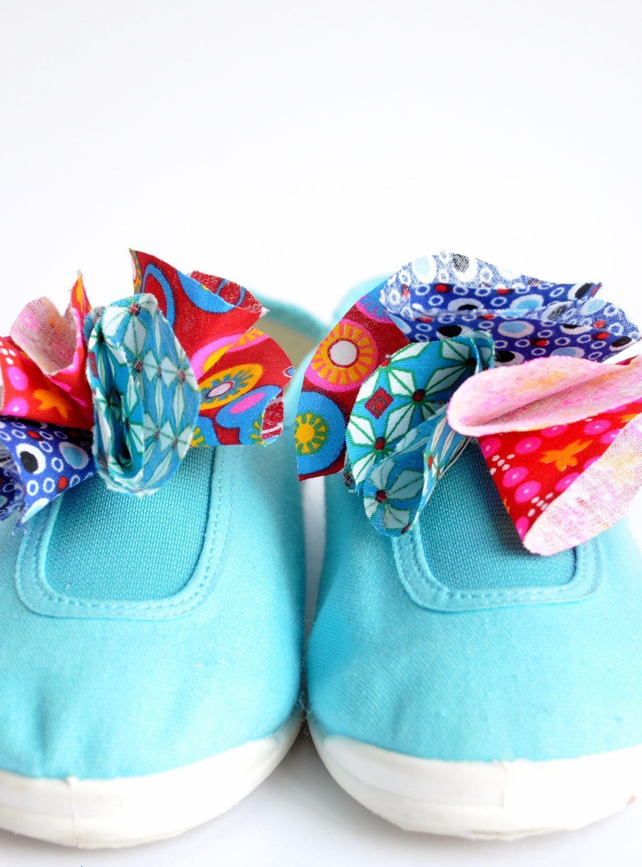 artesanato tecido quarto crianca sapatos