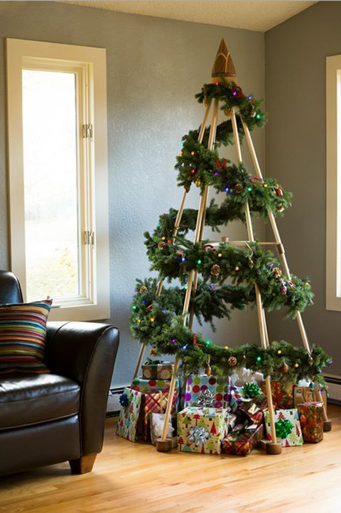 arvore natal madeira criativa
