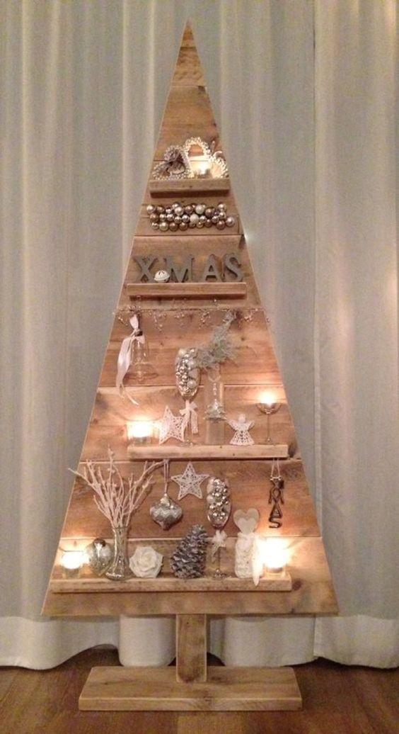 arvore natal madeira decorada