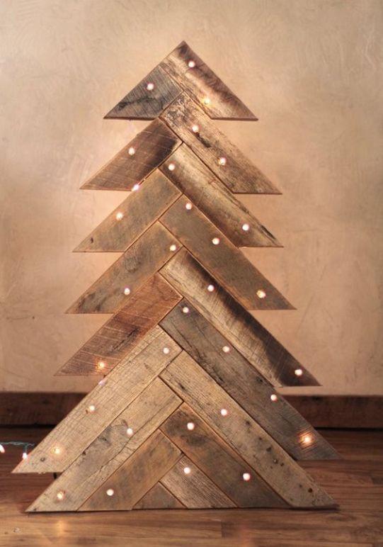 arvore natal madeira paletes