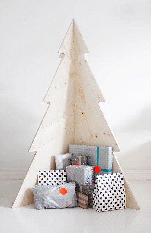 arvore natal madeira simples