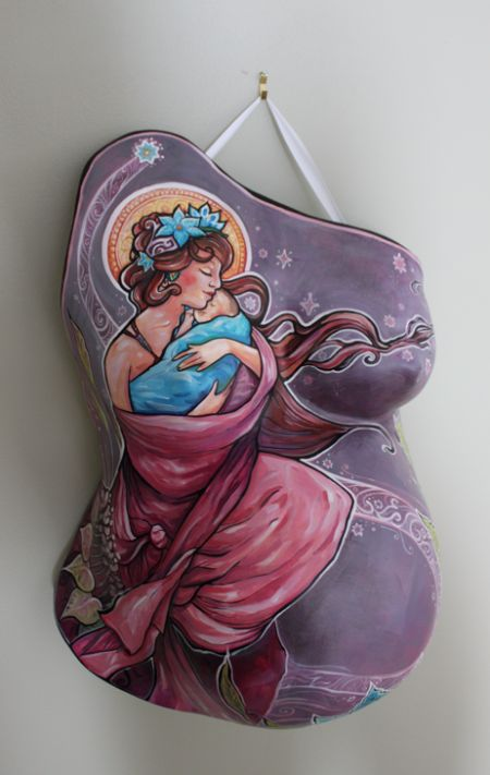 barriga de gesso pintada