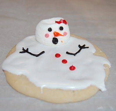 biscoitos bonecos de neve
