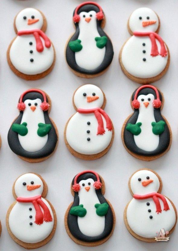 biscoitos natal pinguins