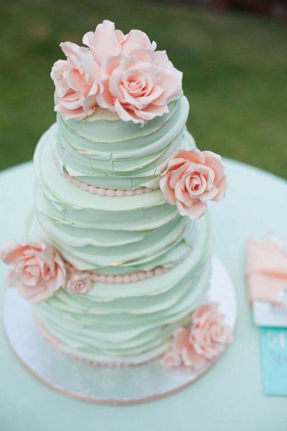 bolo casamento noiva azul