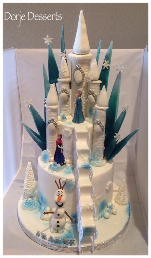 bolo castelo frozen