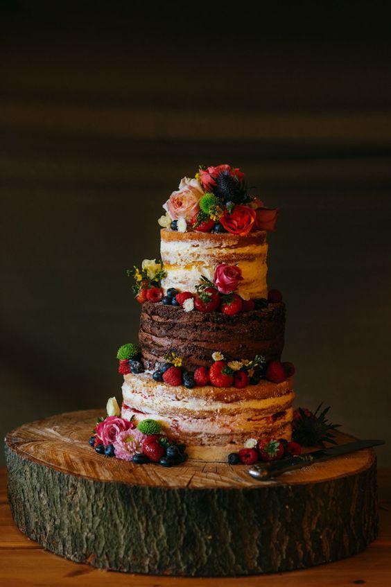 bolo de casamento naked cake