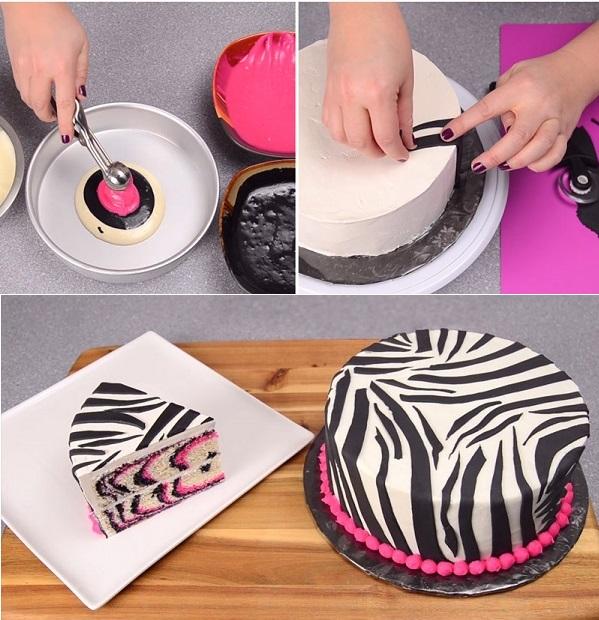 Extremamente Bolo de Zebra em Rosa QV84
