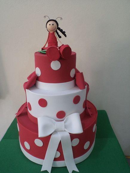 bolo decorado laço eva