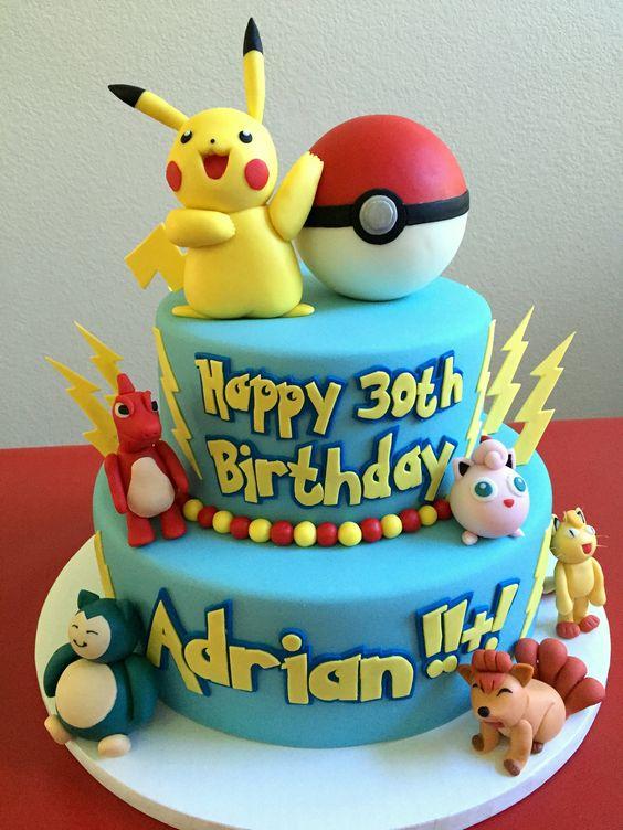 bolo decorado pokemon