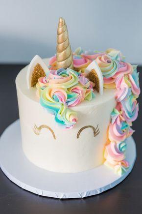 bolo decorado tema unicornio