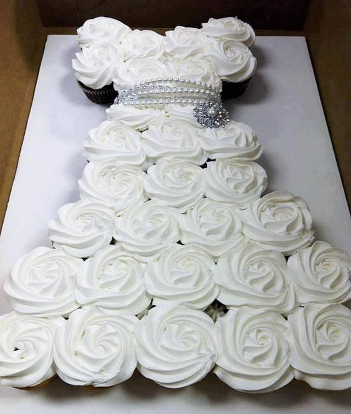 bolo princesa cupcake