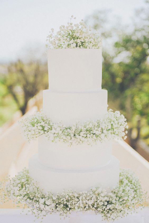 bolos de noiva brancos