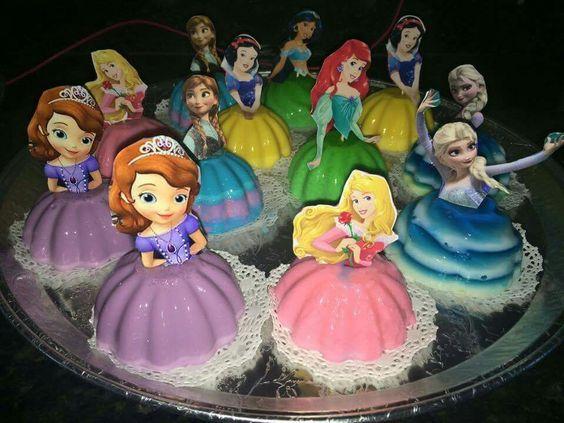 bolos gelatina princesas