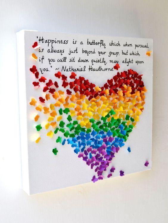 borboletas papel decoracao 3d