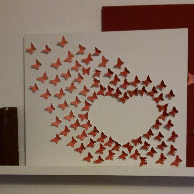 borboletas papel decoracao coracao