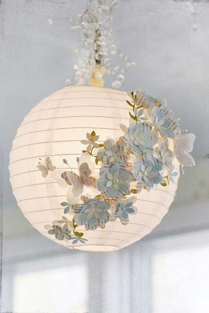 borboletas papel decoracao luminaria