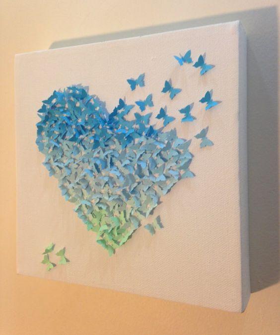 borboletas papel decoracao quadro