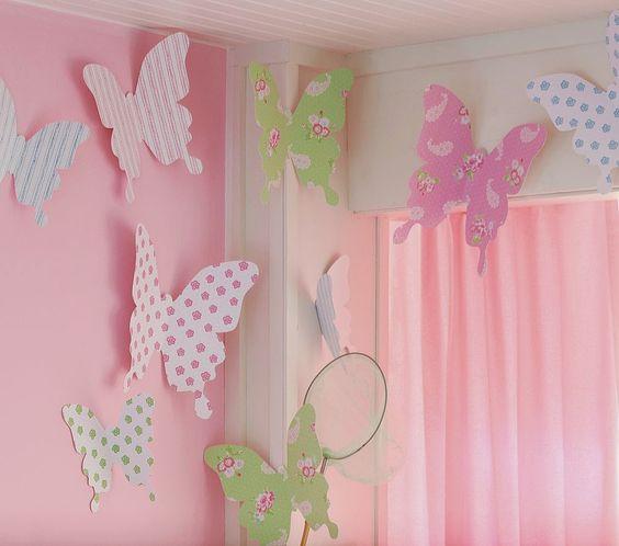 borboletas papel decoracao quarto crianca