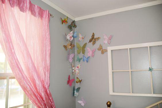 borboletas papel decoracao