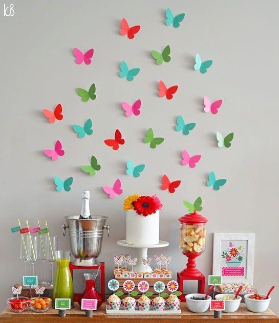borboletas papel festa