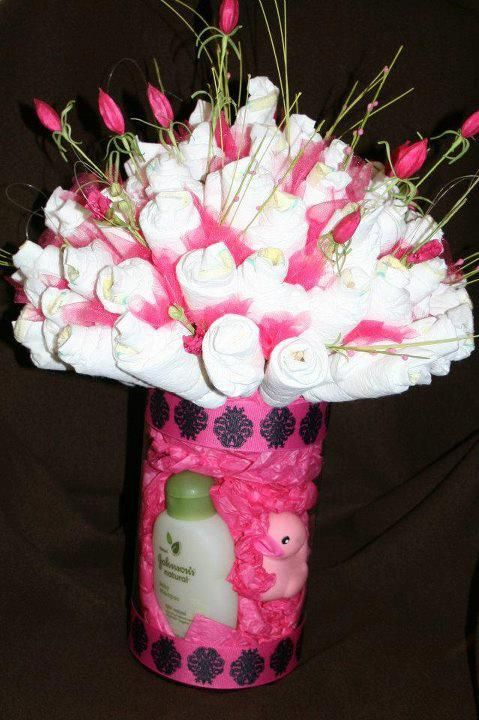 bouquet de fraldas cha bebe