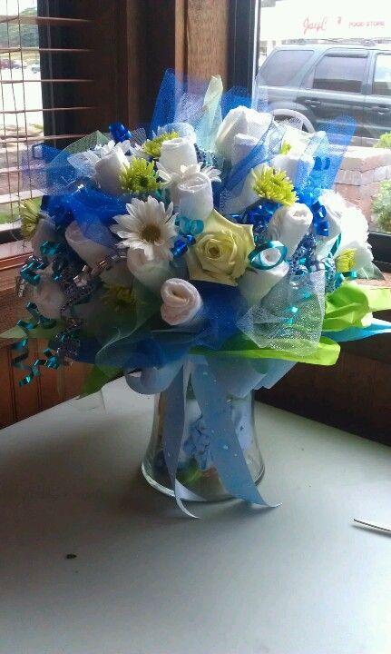 bouquet fraldas cha bebe