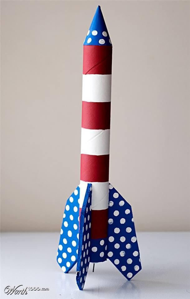 brinquedos rolos de papel foguetao