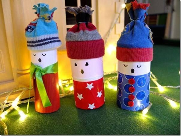 brinquedos rolos de papel natal