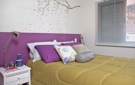 cabeceira de cama pintada 1