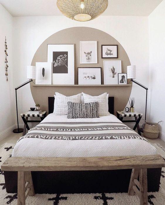 cabeceira de cama pintada 10