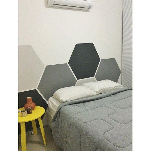 cabeceira de cama pintada 11