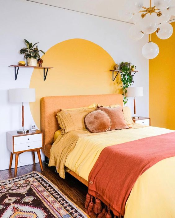 cabeceira de cama pintada 8