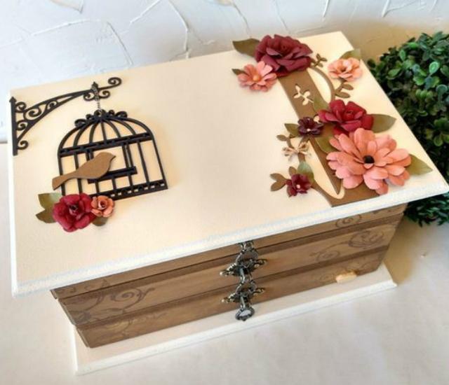 caixa mdf decorada casamento