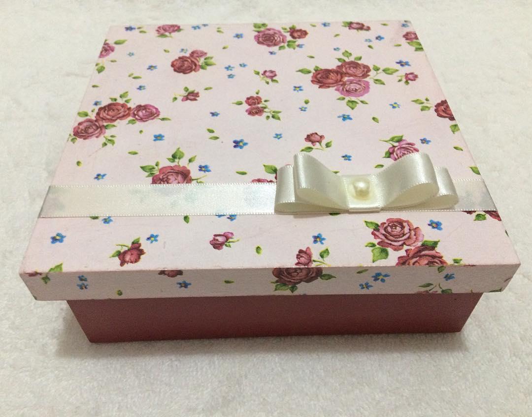 caixa mdf decorada simples