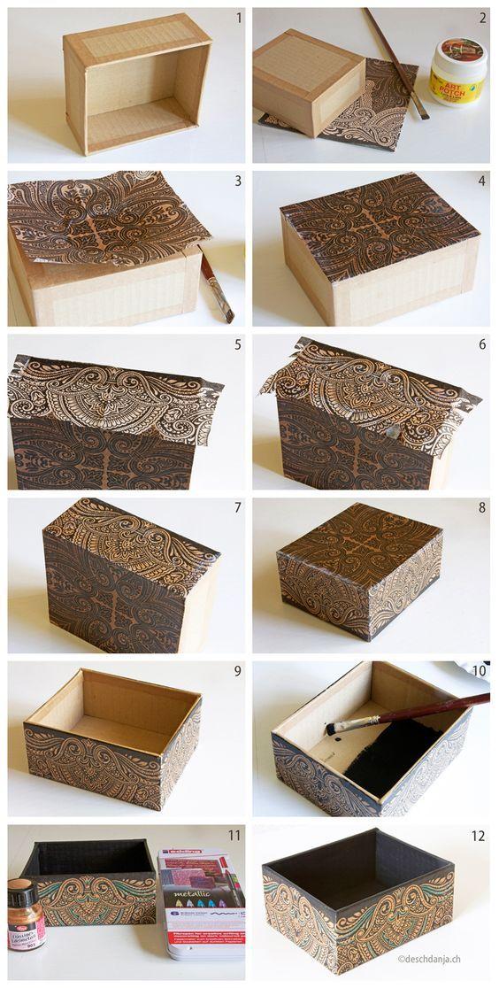 caixa mdf decorada tecido 3