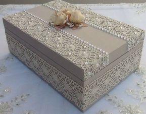 caixa mdf decorada tecido