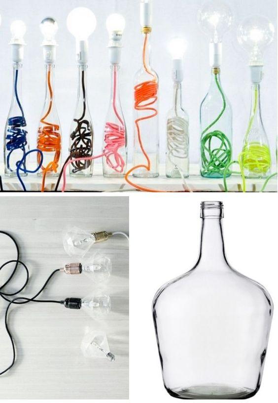 candeeiro reciclagem garrafas