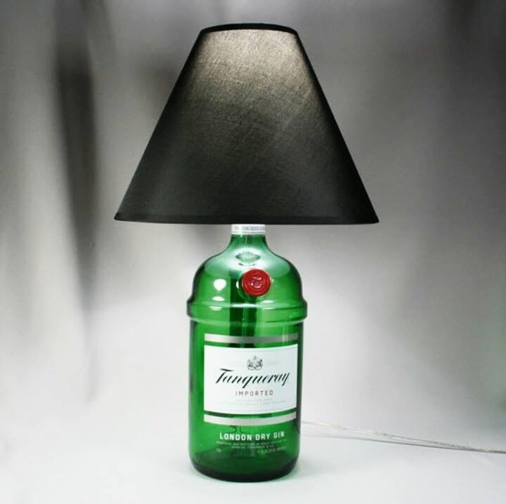 candeeiros base garrafas