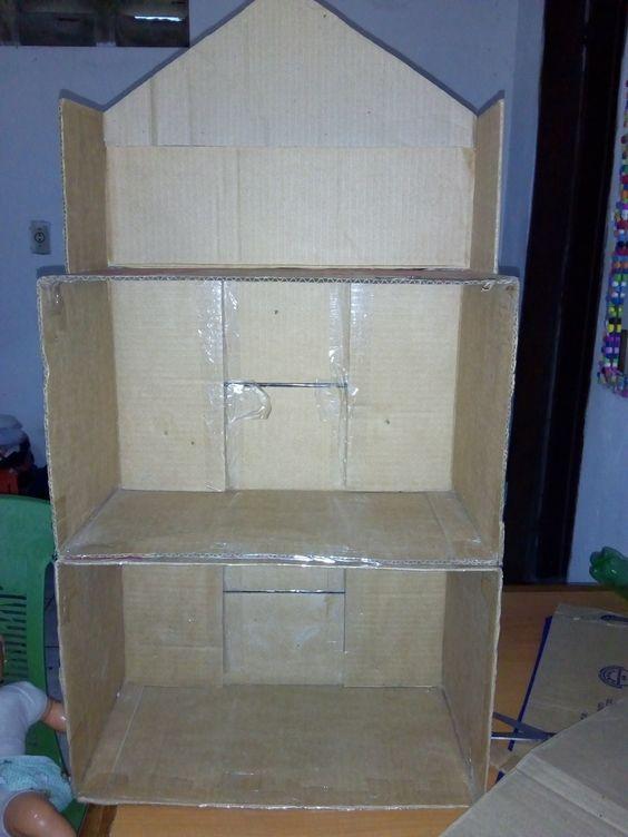 casa bonecas papelao como fazer