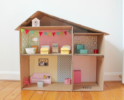 casa bonecas papelao diy
