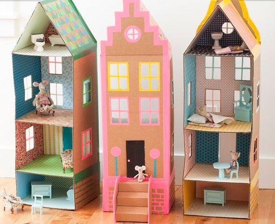 casa bonecas papelao ideias