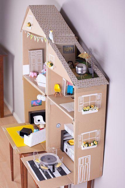 casa bonecas papelao inspiracao