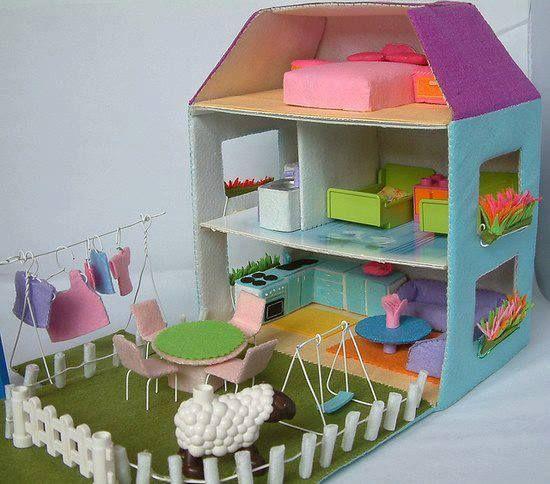 casa bonecas papelao